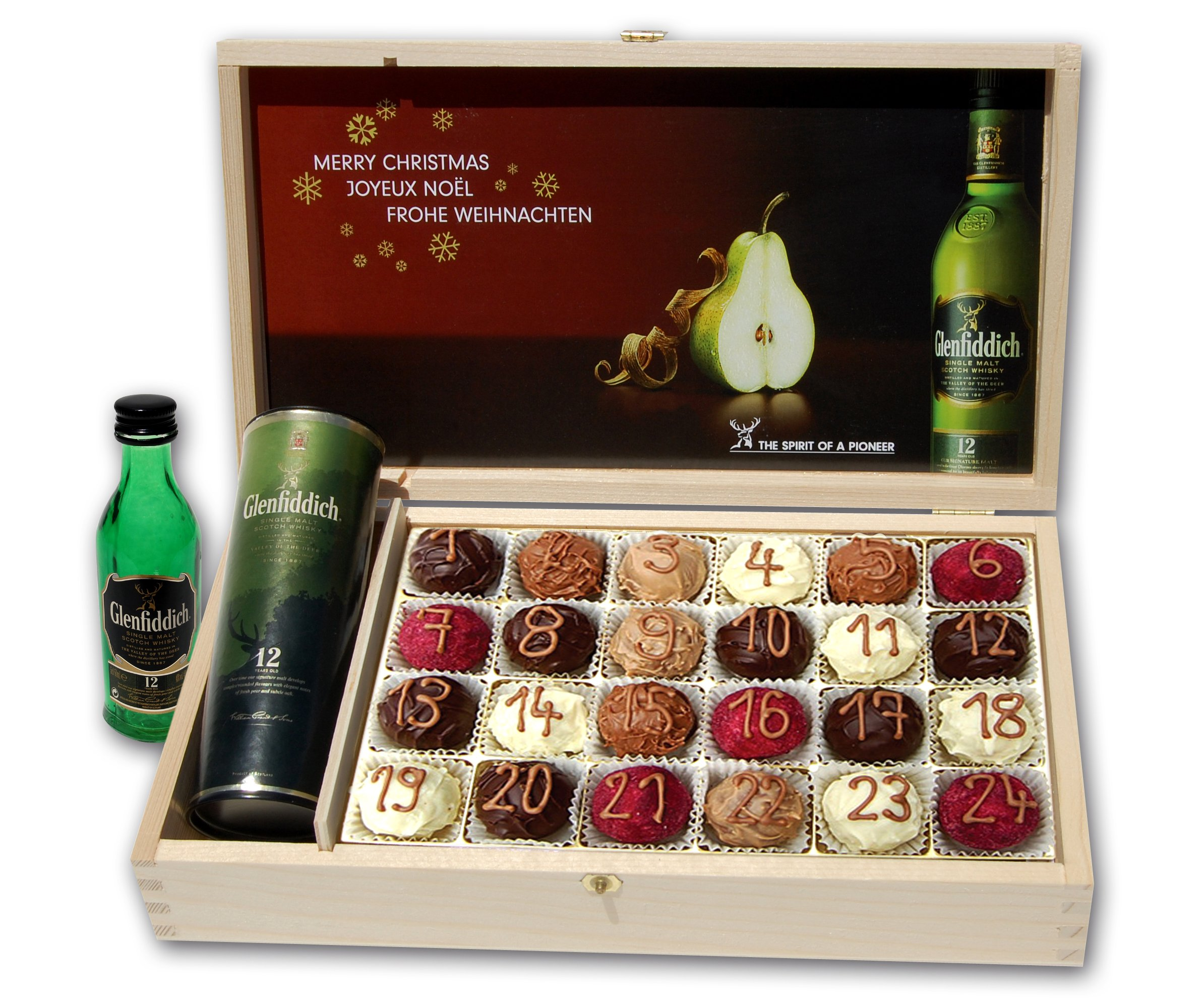 werbeartikel discounter glenfiddich whiskey domino adventskalender marzipan schokolade. Black Bedroom Furniture Sets. Home Design Ideas
